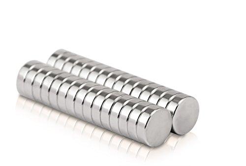 Naths Magnets® | 30 Stück Premium Neodym Magnete 10x3 mm | Kühlschrankmagnet Whiteboard Magnet stark Dauermagnet Pinnwandmagnet Magnettafel Scheibenmagnet