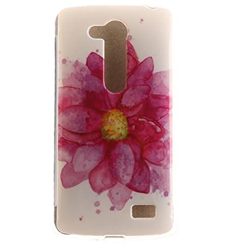 L Officiel Art - LG L Fino Coque, SsHhUu Pink Fleur