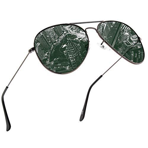 NWOUIIAY Sonnenbrille Herren Polarisiert sonnenbrille Pilotenbrille mit Frühlings Scharnieren 100%...