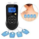 VINGVO Digital Masaje Tens Electroestimulador Muscular, Dispositivo de electroestimulación para aliviar el dolor, Masajeador Recargable con 6 Modos
