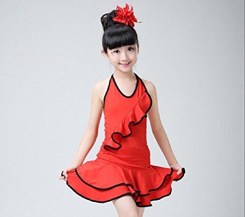ac5f74491 Ropa de niña y Ropa de Danza del Juego de los niños de los niños de América  Teatro Vestuario/Rosa/Rojo/Negro, Red, 110cm