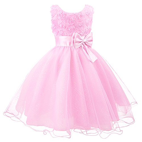 3D Blume Mädchen Kleid Kinder Kleider Prinzessin Festkleid Hochzeit Brautkleid Geburtstag Abendkleid Kommunionskleid von Discoball®