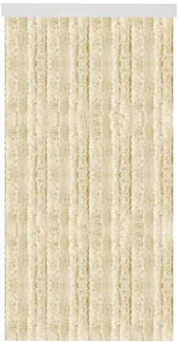 Arsvita Flausch-Vorhang inkl. Raffhalter (90x195 cm) in der Farbe: Beige, viele weitere Größen erhältlich