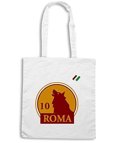 T-Shirtshock - Borsa Shopping OLDENG00226 roma 10 kids Bianco