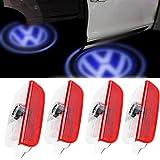 LED Symbol Welcome Logo Lampada per proiettore, Luci Spia Fantasma Terra, per Volkswagen Passat Logo CC Golf Magotan sagitar,4Pcs