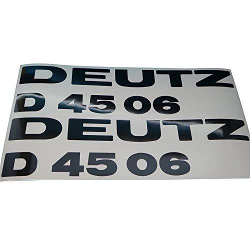 DEUTZ D4506 Schriftzug Aufkleber in schwarz, Ersatzteil Sticker Beschriftung Dekor. Zum Oldtimer Restaurieren von Lack und Verkleidung. Alternativ zum Schlepper Emblem