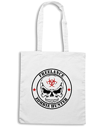 T-Shirtshock - Borsa Shopping TZOM0002 freelance zombie hunter white Bianco