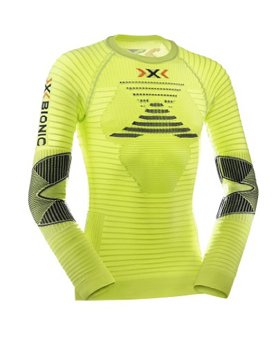 X-Bionic Erwachsene Funktionsbekleidung Running AE Man Effektor Power OW Shirt LG SL, Green Lime/Black, M, O020570 (Erwachsene Black T-shirt Mens)