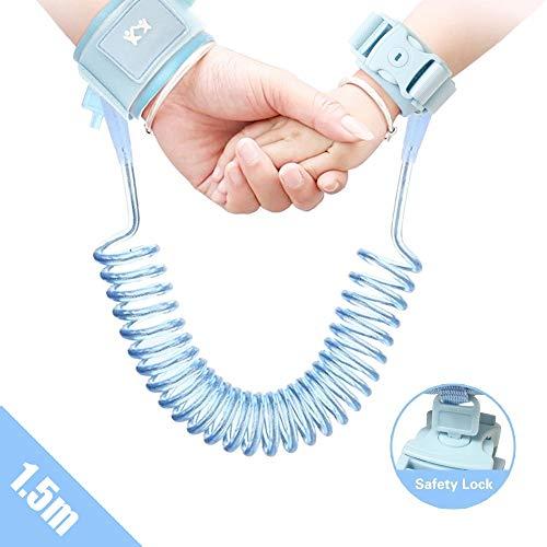 Lehoo Castle Kinder Sicherheitsleine, 1.5 Kinder Leine Handgelenk, Anti-verloren Gürtel Handgelenk Link (Blau)