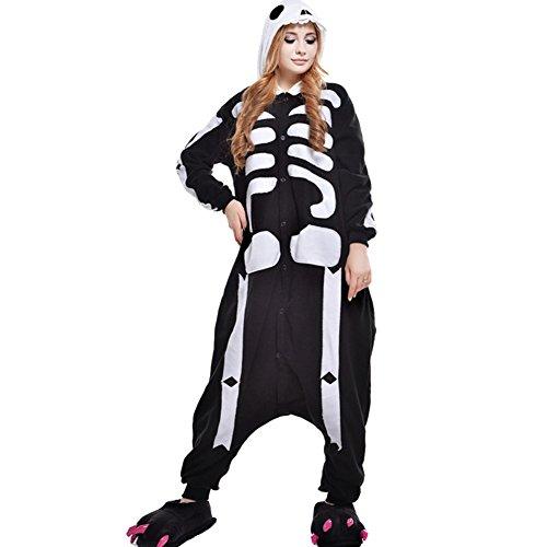 Imagen de pijamas mujer hombre disfraces anime cosplay ropa de dormir franela de una pieza, esqueleto m