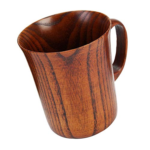 COPP 300ml Primitive Trinkbecher Handgefertigte Holzbecher Natürlicher Tee Kaffee Bier Trinkbecher Reise Tee Küche Büro Geschenk, A