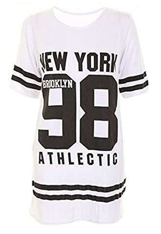 Janisramone femmes baseball brooklyn Nouveau York 98 taille excessive bouffant