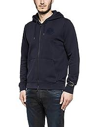 Replay Men's Navy Blue Hooded Zip Through Sweatshirt