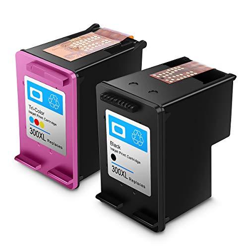 Reconstruido HP 300 XL HP 300 Cartuchos de Tinta de Alto Rendimiento Compatible con HP DeskJet D1660/D2660/D5560/F2480/F4280/F4580 (1 Negro, 1 Tricolor)