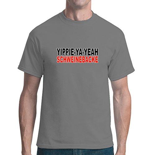 Fun unisex T-Shirt - Schweinebacke by Im-Shirt Grau