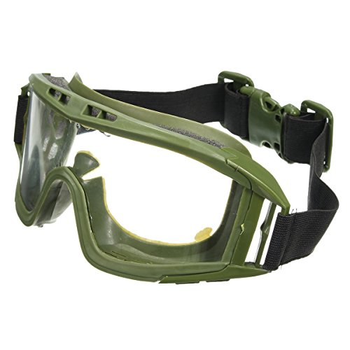 Generic fj-g006CS Airsoft Tactical SWAT Schutzbrille Gläser Eye Schutz Maske Eyewear (grün) (Gläser Taktische)