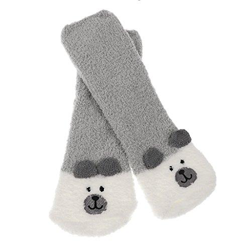 Hausschuhe Hüttensocken Socken Kuschelsocken Fleece Socken Plüsch Flauschige Socken Wintersocken - Bär, wie beschrieben (Damen-santa Anzug)