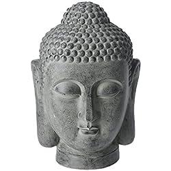 Gran escultura de cabeza de Buda figura decorativa Decoración de interior jardín al aire libre hogar piedra