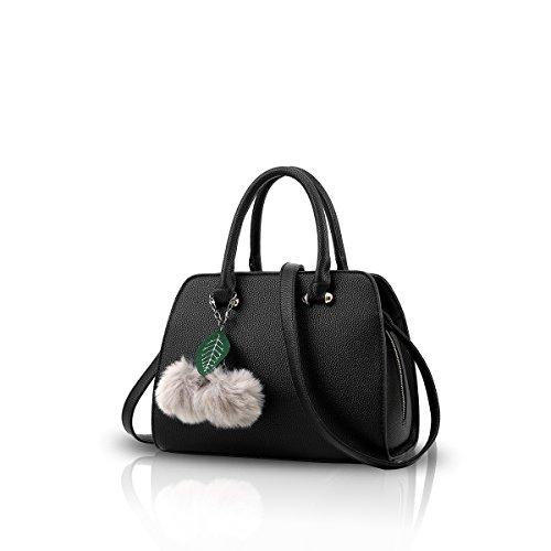 Nicole&Doris Neue Frauen / weibliche Art- und Weisefreizeit-Handtasche Crossbody Schulter-Geldbeutel-Einkaufstasche für Arbeits-heißes Verkaufs-PU-Leder schwarz (Frauen Neue Handtasche)