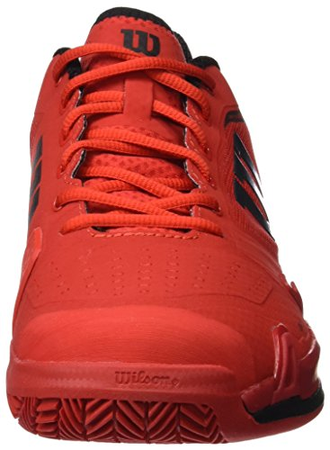 Wilson Wrs322640e, Chaussures de Tennis Homme Rouge (Wilson Red / Black / Barbados Cherry)