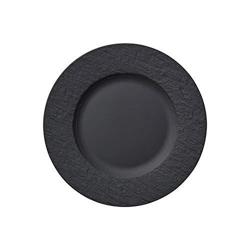 Villeroy & Boch Manufacture Rock Assiette pour le petit-déjeuner (22 cm), Porcelaine Premium, Gris