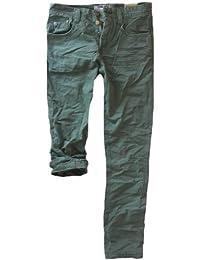 Eight2nine Jeans Herren 5 Pocket Herrenjeans straight leg gerades Bein Knopfleiste mit Logoknopf Streetstyler by 98-86