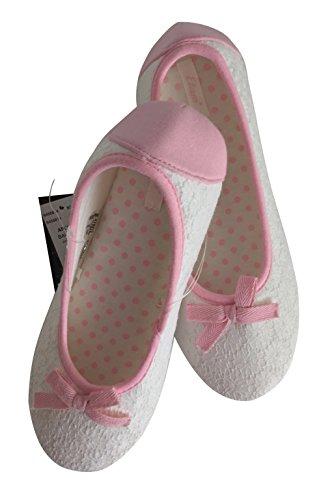 Etam, Pantofole Da Donna Bianche E Rosa