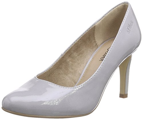 s.Oliver 22401, Damen Pumps, Grau (GREY PATENT 215), 39 EU (6 Damen UK)