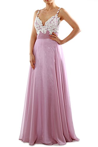MACloth Women Straps Sweetheart Lace Chiffon Long Prom Dress Formal Evening Gown Dark Navy