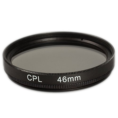 Ares Foto® CPL Zirkular-Polfilter Polarisationsfilter, optisches Glas & Aluminium. Für Canon Sony Nikon Fujifilm Pentax Tamron Sigma Leica Olympus Panasonic (46mm)