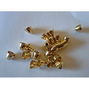 Fliegenbinden Conehead Kopfperlen, goldfarben 4,0mm, 25Stück