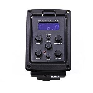 Rocket chitarra acustica sintonizzatore preamplificatore piezo pickup Equalizzatore a 4bande con display LCD + 4Picks