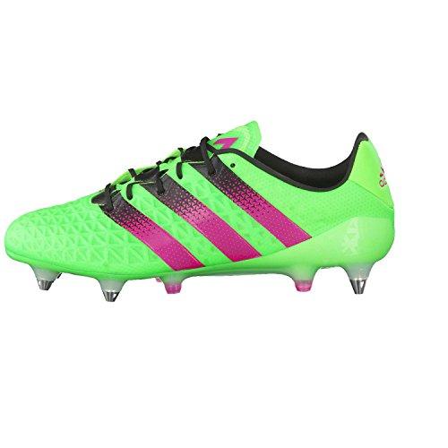adidas Herren Ace 16.1 SG Fußballschuhe Grün / Pink / Schwarz (Versol / Rosimp / Negbas)