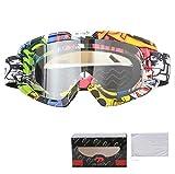 Beydodo Schneebrille Retro Stil 2 Motorrad Brille Selbsttönend Arbeitsbrille Schutzbrille Schutzbrille