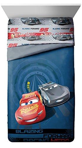 Disney/Pixar Cars Friends To The Finish Blau 76,2x 137,2cm Slumber Bag mit Lightning McQueen & Mater (Offizielle Disney/Pixar Produkt) Storm Blue Comforter