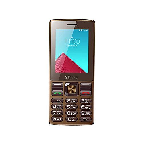 Original-Telefon SERVO V9300 2,4-Zoll-Dual-SIM-Karte GPRS-Vibration außerhalb von UKW-Radio-Mobiltelefon mit russischer Tastatur - braun Dual-telefon
