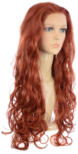 Hair By MissTresses Longue Bouclée Glamour Lace Front Perruque, Rouge
