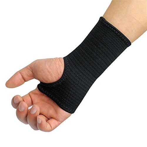 Kuangmi elastische Handgelenkbandage, Schiene, bei Arthritis, Verstauchung, schwarz, L