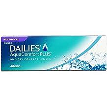 DAILIES AquaComfort Plus Lentes de contacto multifocales diarias, R 8.7, D 14, 1.25 dioptría, adición alta - 30 lentillas