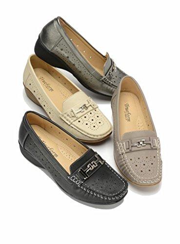 Donne Mocassini Pantofole Casual Le Per Nere Trueform Stile AfTYx1qw