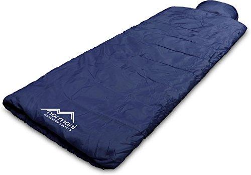 normani Einzel Schlafsack Pilotenschlafsack mit integriertem Kopfkissen Farbe Pilot/Marine Marine-pilot