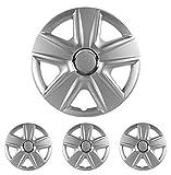 """Fussmatten-Deluxe Radkappen Radzierblenden Silber 15 Zoll 15"""" R15#ESP# für Fast alle Standard - Stahlfelgen z.B. VW"""