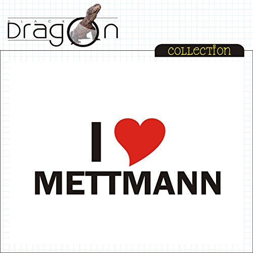 T-Shirt mit Städtenamen - i Love Mettmann- Herren - unisex Weiß