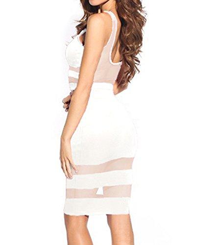 E-Girl blanc maille découper jupe et haut,Blanc Blanc