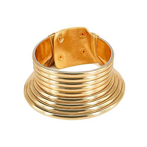 Reliablee Collar y Pulsera para Mujer con Cierre Africano fiable. Juego de joyería de Moda, Caja de Collar para cumpleaños y Navidad.