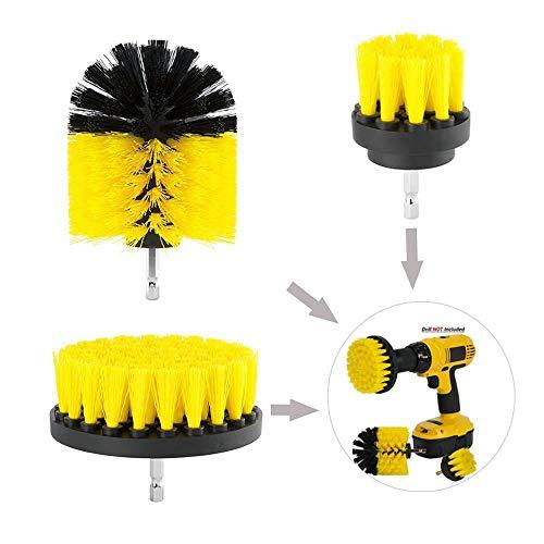 3 Stück Drill Brush Set Scrub Brush Bohrer Befestigung Kit Power Brush Fliesen und Fugen Badezimmer Reinigung Scrub Brush Kit für Wanne Dusche Fliesen Ecken Küche