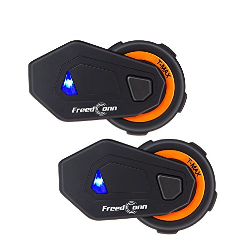 FreedConn Full Duplex Casco de la motocicleta Bluetooth Intercom T-MAX Sistema de...