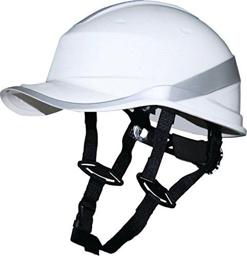 Delta Plus Venitex, casco di sicurezza a forma di cappello da baseball, elmetto rigido anti urto, con imbracatura in PPE. White Taglia unica