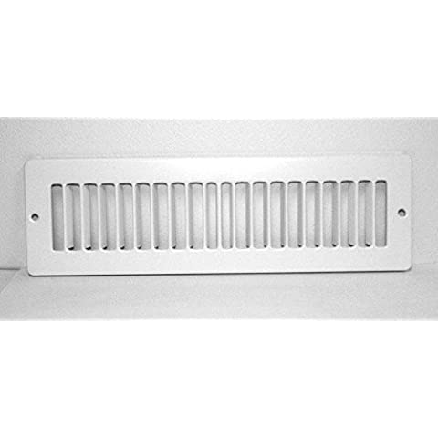 Hart & Cooley 420 Series - 12 x 2.25 White Toe Kick / Space Grille by Hart & Cooley