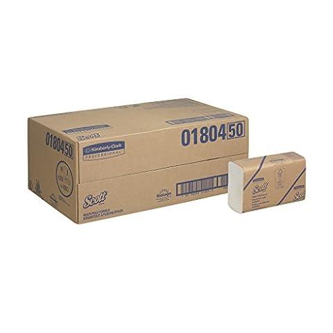 Scott 18045 Essuie-Mains Multifold, Airflex, Blanc (16 packs x 250 formats), 4.000 formats au total